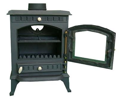 FoxHunter Cast Iron Log Wood Burner Stove JA010 7KW Multi Fuel Fire Place