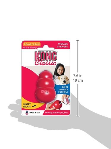 KONG Classic Dog Toy with Puppy Snacks Bundle 9