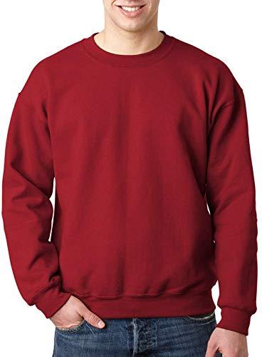 Gildan Heavy Blend Unisex-Erwachsene Crewneck Sweatshirt Gr. X-Large, kardinalrot - Gildan Crewneck Sweatshirt