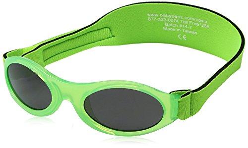 Kidz Banz - Aqua Blue (0-2 years) - Lunettes de soleil Mixte, vert, 0-2 ans