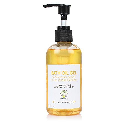 Greenberry Organics Bath Oil Gel with Natural Oils of Olive, Jojoba & Almond | Parabens, Paraffin Free Formula (200 ML)