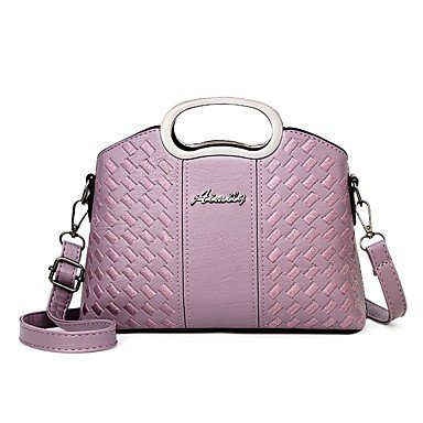 Damenmode Faux/PU Leder Schulter Messenger Crossbody Mini Bag Purple