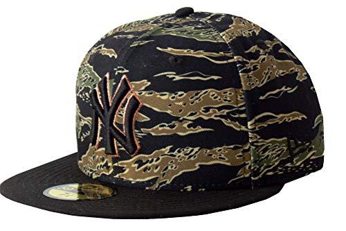 New Era Baseball Cap 59FIFTY NY Yankees MLB Tiger Camo MLB schwarz grün Tarnfarben Gr. 7 5/8 -