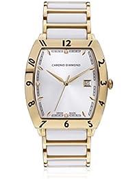 Chrono Diamond 82057_silber-40 mm - Reloj para hombres, correa de metal color blanco