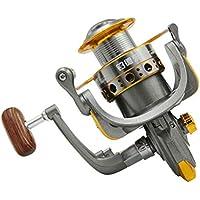 SASKATE Carrete de pesca giratorio profesional 13BB bobina de pesca de metal giratorio carrete de pesca ruedas