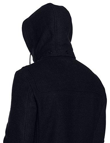 JP 1880 Herren große Größen bis 7 XL | Dufflecoat | Woll-Mantel | Übergangs-Jacke mit Patches | abnehmbare Kapuze, Zipper & Knebelknöpfen | 711393 Blau (Dunkelblau 70)