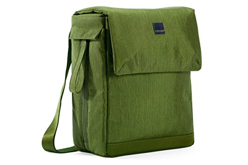Acme Made AM36472-PWW Montgomery Street Courier Messenger Tasche grün
