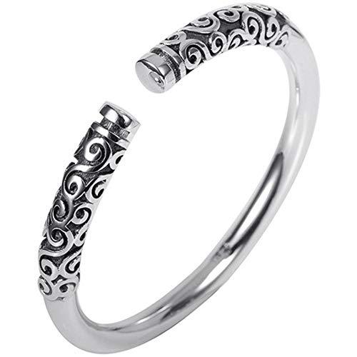 XUEQQ Sterling Silber Armband Gold Hoop Bar Thai Silber Armband Eröffnung männliche und weibliche Paare Silber Fuß Armband Persönlichkeit