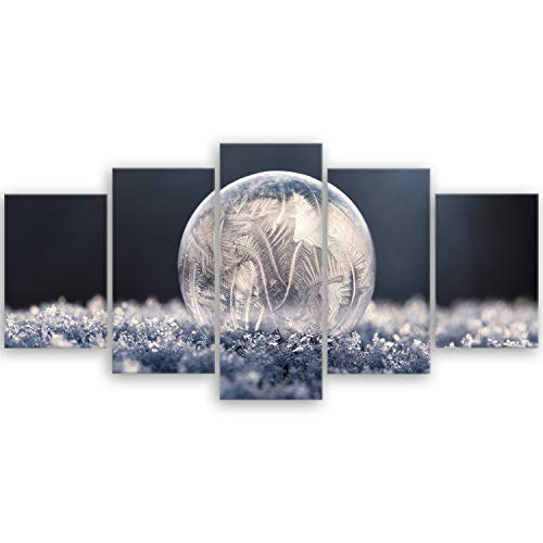 ge Bildet® hochwertiges Leinwandbild - Traum - 100 x 50 cm mehrteilig (5 teilig) 3044BII
