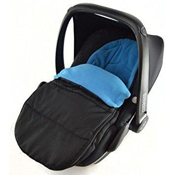 Saco de dormir para asiento de coche compatible con huevos Kiddy New born asiento de coche, color azul océano