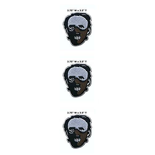 Anwendung Classic Halloween Freitag der 13. Hannibal Lecter Cosplay Badge gesticktes Eisen oder aufgesetzte Aufnäher Patch 3er Pack Geschenk-Set