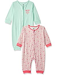 MINI KLUB Baby Girls' Regular Fit Romper Suit (Pack of 2)