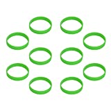 Hoerev leere Silicone Charity Bracelets Rubber Sport Armband, 10 Stück