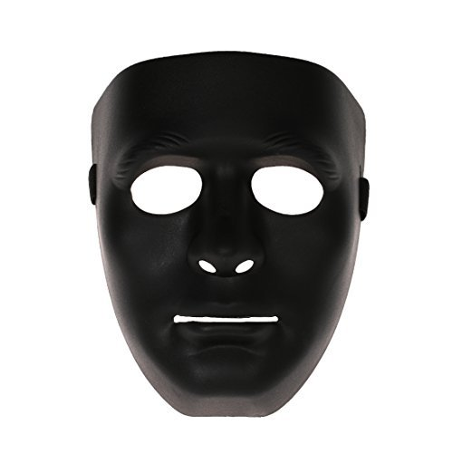 ske Halloween Party Maske Halloween Hip-Hop Ghost Tanz - herren schwarz (Crystal Maskerade Maske)
