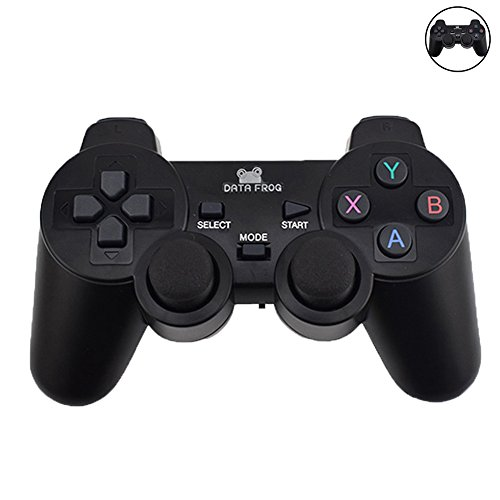 PS3 TV Android Handy 2.4 G Gamepad PC-Gamepad Joystick Smartphone OTG Schwarz Schwarz S (Abs Plus Tv)
