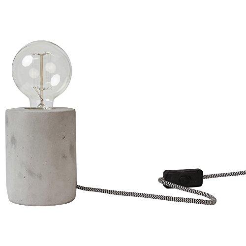 Lampe à poser en ciment (D.9xH.13cm)