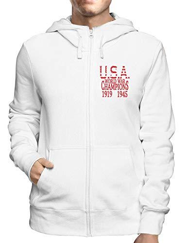 Sweatshirt Hoodie Zip Weiss WTC0833 World war Champs Champ Zip Hoodie