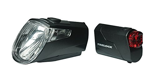 Trelock Led Beleuchtungsset 360 I Go LS 720 Reego Schwarz, Black, 10 x 5 x 3 cm