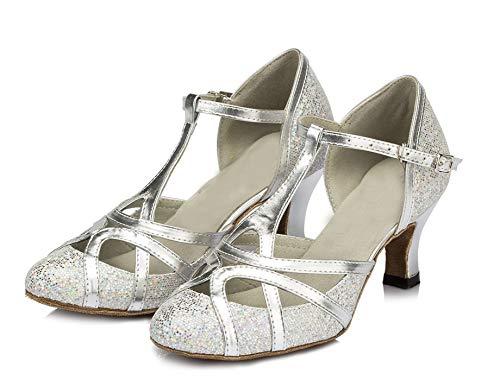 Minitoo , Damen Tanzschuhe, Silber – silber – Größe: 41.5 - 2