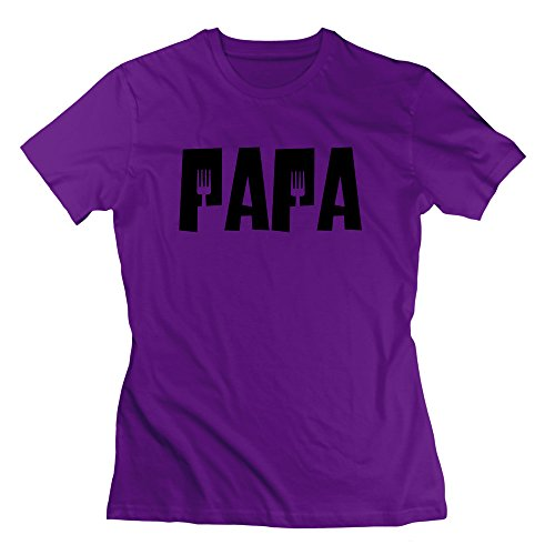 Nana-Custom Tees Damen T-Shirt Gr. xs, Schwarz - Violett