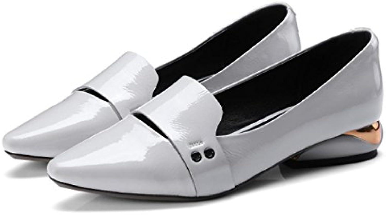 GAOLIXIA Zapatos de conducción de cuero acentuado de las mujeres holgazanes zapatos perezosos bombas de primavera...