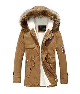 mileeo homme veste capuche hiver manteau blouson gar on chaud parka veston militaire hoodie. Black Bedroom Furniture Sets. Home Design Ideas