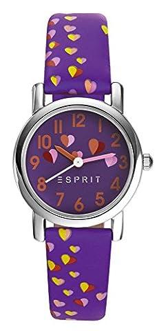Esprit Mädchen-Armbanduhr TP90652 PURPLE Analog Quarz Leder ES906524004