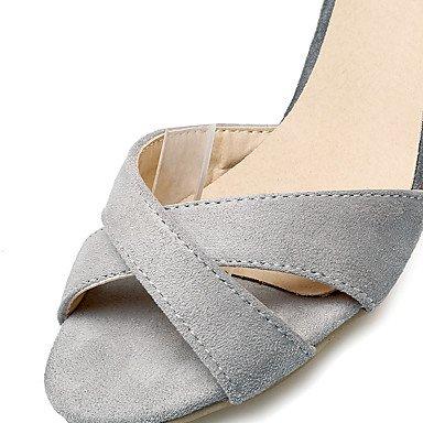 LvYuan Da donna-Sandali-Formale Casual Serata e festa-Altro-A stiletto-Felpato-Nero Rosa Grigio gray
