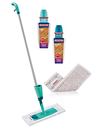 leifheit-wood-floor-care-protect-starter-set-for-oiled-waxed-wood-floor-white