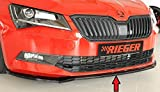 Rieger Frontspoilerschwert schwarz glänzend für Skoda Superb III (3T/3V) 03.15-