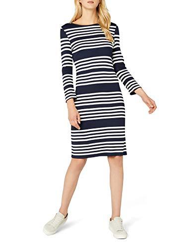 edc by ESPRIT Damen 028CC1E024 Kleid, Blau (Navy 400), Large