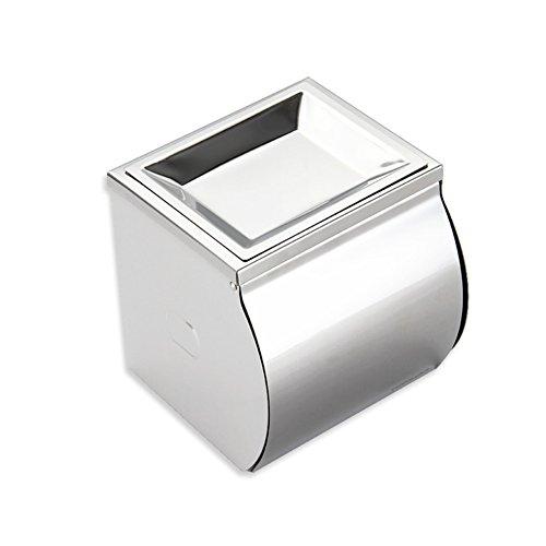Acciaio inox supporto di carta/Bagno bagno portasciugamani/Supporto impermeabile rotolo di carta igienica con posacenere-A