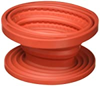 William Bounds 08296 Sili Gourmet Silicone Collapsible Coffee Filter Holder, Red