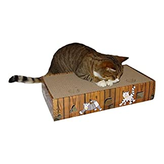 environmentally friendly cat scratcher & activity toy including catnip and toys ENVIRONMENTALLY FRIENDLY CAT SCRATCHER & ACTIVITY TOY including CATNIP and TOYS 41IvH Q4hXL