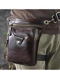 Tradico® TradicoBrand New Men Genuine Leather Motocycle Hiking Messenger Hip Bum Fanny Pack Waist Leg Bag
