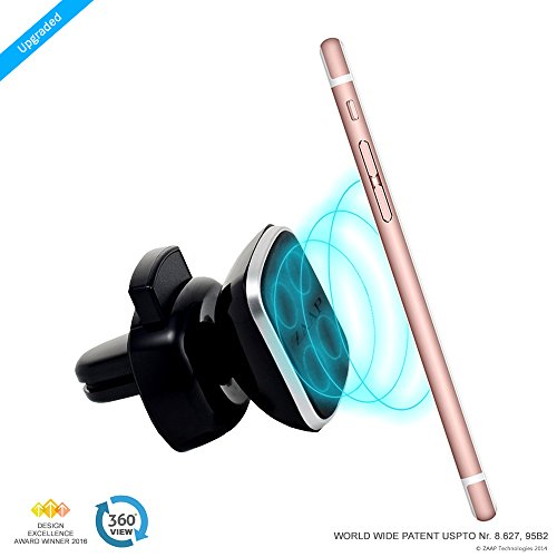 ZAAP MAGNETIC TOUCH ONE (3rd Generation) Premium Car/Desk/Air vent Mount/Car mobile holder compatible for Smartphones with 360 degree rotation & fully adjustable