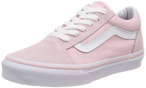 Vans Old Skool, Baskets Mixte Enfant, Rose (Suede/Canvas), 39 EU
