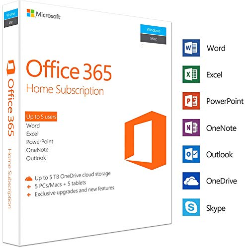Office 365 Personal Account | 5 Users | 5 Years | PC/Mac | E-Mail Delivery (24h) - Office 365-microsoft Personal