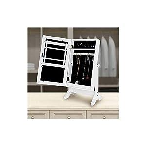 Genérico Gartengarnitur–Standspiegel mit Schmuckschrank, Weiß