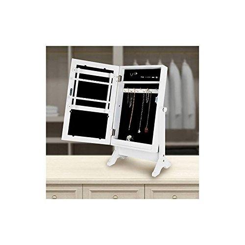 Foto de Multistore 2002 - Espejo de pie con función de armario para joyas, color blanco