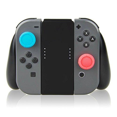 Tpfoon Nintendo commutateur Joy Con contrôleur Hand Grip, 2pcs Thumbstick caches Inclus