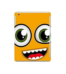 Fuson Designer Back Case Cover for Apple iPad Mini 3 :: Apple iPad Mini 3 Wi-Fi + Cellular (3G/LTE); Apple iPad Mini 3 Wi-Fi (Wi-Fi, W/o GPS) (Yellow Smiley EMoticon Expression Scared fearful)