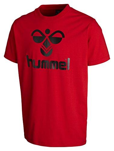 Hummel Jungen T-Shirt Classic Bee Tee, Flame Scarlett, 12 ( 140 - 152 ), 08-467-3015 -