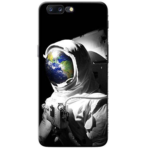 Astronautenanzug & Spiegelbild der Erde Hartschalenhülle Telefonhülle zum Aufstecken für OnePlus 5