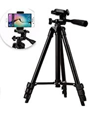BMC Mobile Tripod Stand Tripods for Mobile Flexible Foldable Tripod for Camera, DSLR and Smartphones with Mobile Attachment,Tripod for Mobile Phone,Tripod Stand 3120 Model