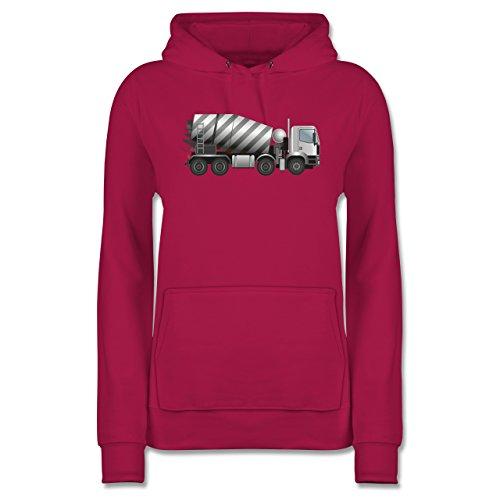 andere-fahrzeuge-betonmischer-fahrmischer-xxl-fuchsia-jh001f-damen-premium-kapuzenpullover-hoodie