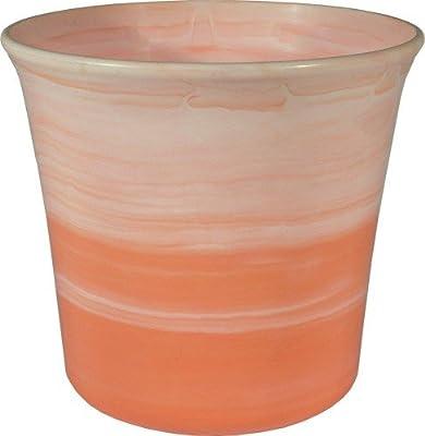 Übertopf Tina 15 cm orange von Wibo - Du und dein Garten