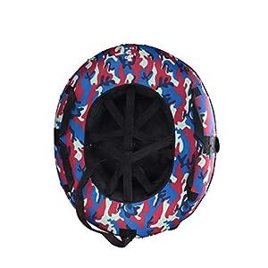BFQY FH Schnee-Schlauch, Starker Im Freien Ski-Ring Verschleißfester Erwachsener Ski-Ring-aufblasbarer Doppelter Schnee-Kreis 120cm Vier Farbwahl