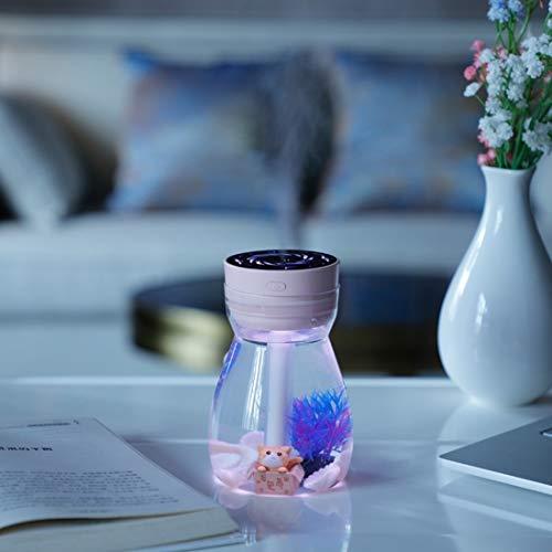 Anglayif Humidificador de Niebla fría ultrasónica Phoenix con luz de 7 Colores (Color : Pink)