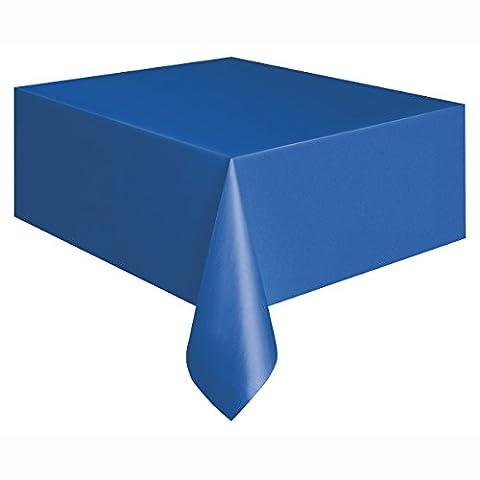 Kunststoff-Tischdecke, ca. 2,7m x 1,4m. (Königsblau Tischdecke)